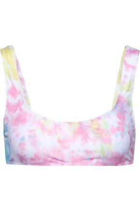 + Re/Done The Elle Tie Dyed Bikini Top by Solid & Striped