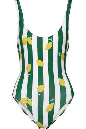 SOLID & STRIPED The Anne Marie printed striped swimsuit