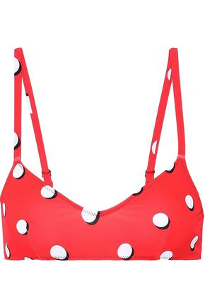 SOLID & STRIPED The Rachel polka-dot bikini top