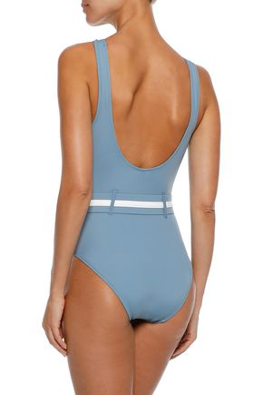 SOLID & STRIPED The Victoria belted swimsuit