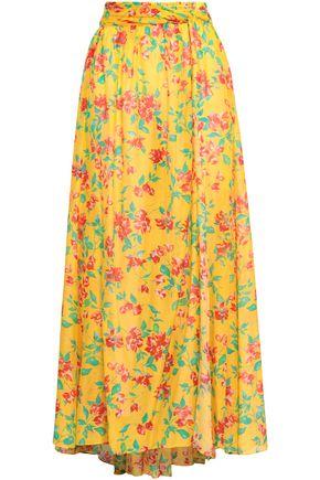 3bba2d62e9 CAROLINE CONSTAS | Caroline Constas Printed Cotton And Silk-blend Maxi Skirt  | Goxip