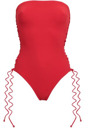 ZIMMERMANN Castille lace-up bandeau swimsuit