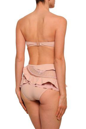 ZIMMERMANN Bayou point d'esprit-paneled high-rise bikini briefs