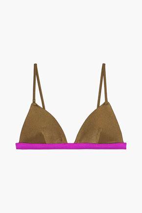 ZIMMERMANN Two-tone triangle bikini top