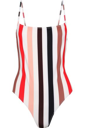 SOLID & STRIPED The Chelsea striped swimsuit