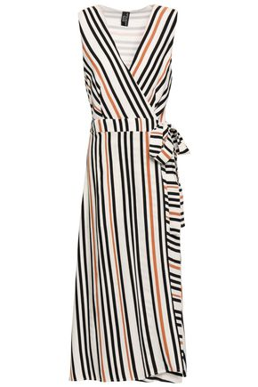 JETS AUSTRALIA by JESSIKA ALLEN Striped printed twill wrap dress