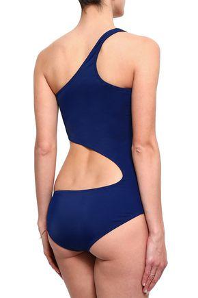 NORMA KAMALI One-shoulder cutout swimsuit