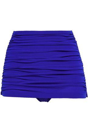 NORMA KAMALI Bill layered ruched high-rise bikini briefs