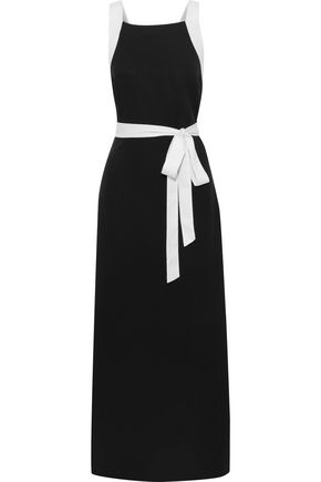JETS AUSTRALIA by JESSIKA ALLEN Classique two-tone Tencel-piqué maxi wrap dress