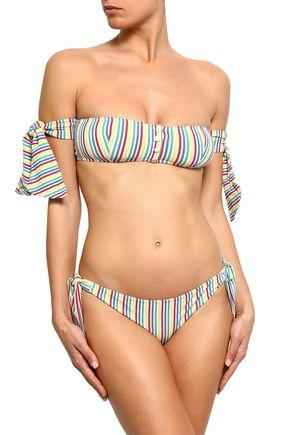 12651462ce7 SOLID & STRIPED Striped seersucker low-rise bikini briefs