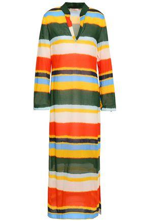 TORY BURCH Striped cotton kaftan