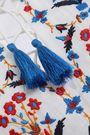 TORY BURCH Tasseled embroidered linen-gauze kaftan