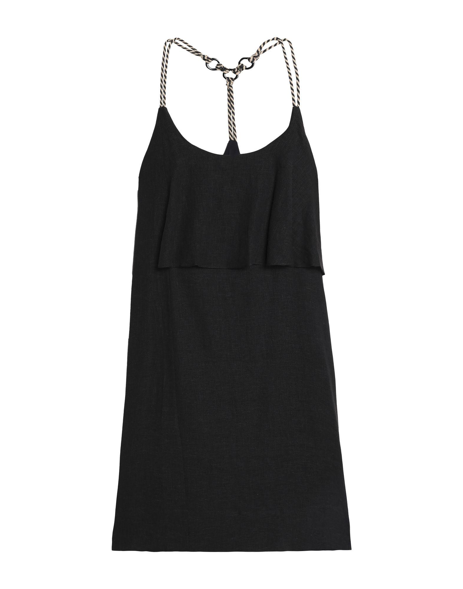 《セール開催中》VIX PAULA HERMANNY レディース ビーチドレス ブラック M 麻 55% / レーヨン 45%