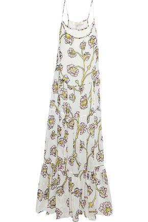 DIANE VON FURSTENBERG Baylee tiered floral-print silk-voile maxi dress
