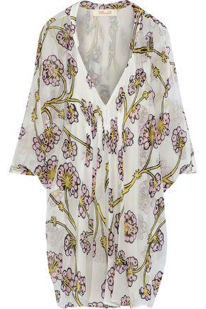 DIANE VON FURSTENBERG Fleurette floral-print silk-chiffon coverup