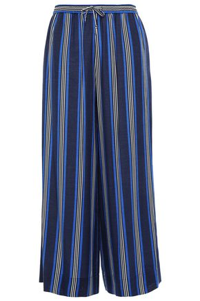 DVF WEST DIANE VON FURSTENBERG Striped silk-blend wide-leg pants