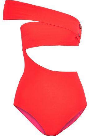 ALIX Shelborne cutout asymmetric swimsuit