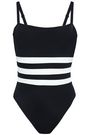 SOLID & STRIPED + RE/DONE The Malibu striped swimsuit