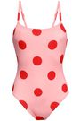 SOLID & STRIPED The Nina polka-dot swimsuit