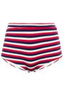 SOLID & STRIPED The Jamie striped ribbed high-rise bikini briefs