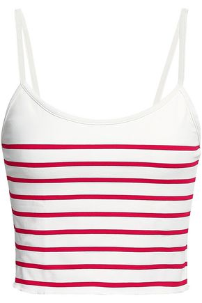 SOLID & STRIPED The Nicole striped bikini top