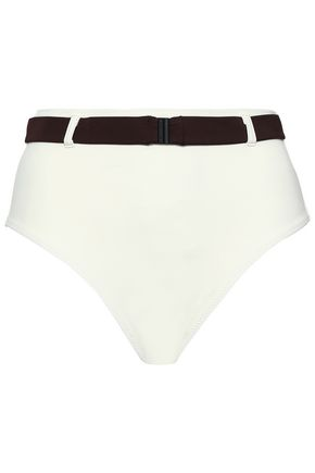 SOLID & STRIPED The Josephine belted high-rise bikini briefs