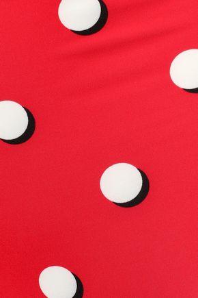 SOLID & STRIPED The Brigitte polka-dot high-rise bikini briefs