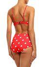 SOLID & STRIPED The Brigitte polka-dot triangle bikini top