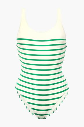 SOLID & STRIPED The Anne-Marie open-back striped swimsuit