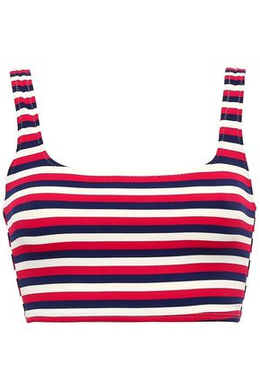 SOLID & STRIPED The Jamie striped ribbed bikini top