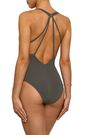 JETS AUSTRALIA by JESSIKA ALLEN Aspire Plunged mesh-trimmed cutout swimsuit