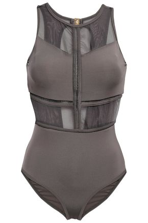 JETS AUSTRALIA by JESSIKA ALLEN Mesh-paneled cutout swimsuit