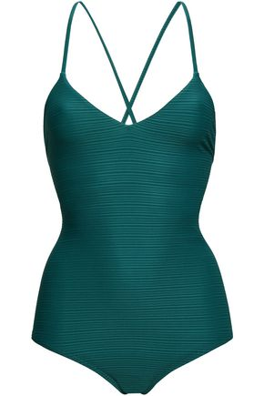 JETS AUSTRALIA by JESSIKA ALLEN Disposition lace-up ribbed swimsuit