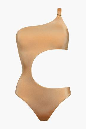 MELISSA ODABASH Florence one-shoulder cutout swimsuit