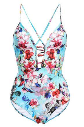 JETS AUSTRALIA by JESSIKA ALLEN Flora Plunge cutout floral-print swimsuit
