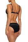 JETS AUSTRALIA by JESSIKA ALLEN Mesh-trimmed laser-cut low-rise bikini briefs