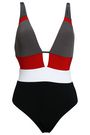 JETS AUSTRALIA by JESSIKA ALLEN Mesh-paneled color-block swimsuit
