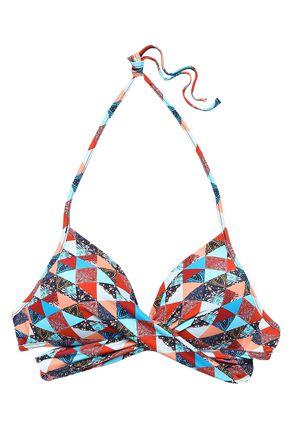 JETS AUSTRALIA by JESSIKA ALLEN Kindred crossover printed halterneck bikini top