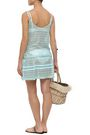 MELISSA ODABASH Khloe metallic crochet-knit mini dress