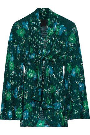 ANNA SUI Printed fil coupé silk-blend kimono