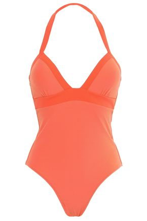 HEIDI KLEIN Stretch-piqué halterneck swimsuit