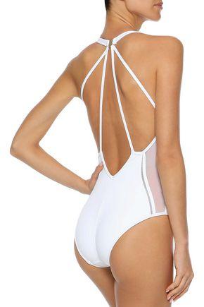 JETS AUSTRALIA by JESSIKA ALLEN Cutout mesh-trimmed swimsuit