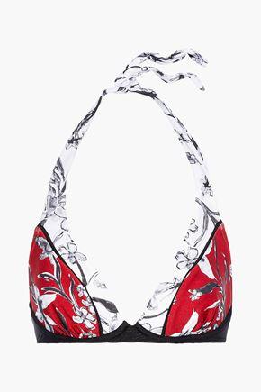JETS AUSTRALIA by JESSIKA ALLEN Floral-print halterneck bikini top