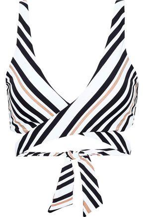 JETS AUSTRALIA by JESSIKA ALLEN Vista metallic striped wrap bikini top
