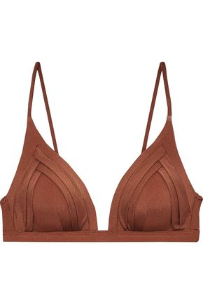 JETS AUSTRALIA by JESSIKA ALLEN Pleated triangle bikini top