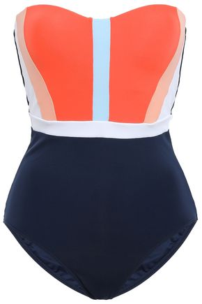 JETS AUSTRALIA by JESSIKA ALLEN Color-block bandeau swimsuit