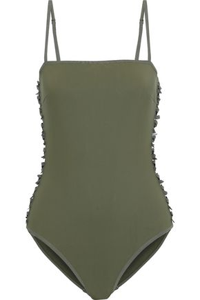 ZIMMERMANN Iris bow-embellished cutout swimsuit