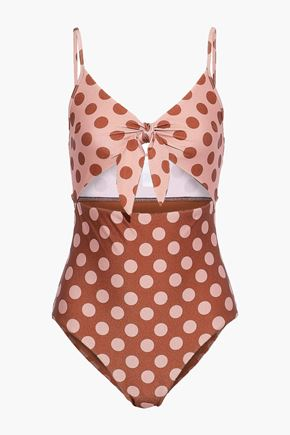 ZIMMERMANN Primrose knotted cutout swimsuit