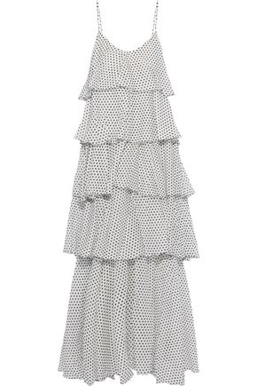 LISA MARIE FERNANDEZ Imaan tiered polka-dot cotton-voile maxi dress