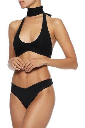 Zimmermann Halterneck Bikini Top In Black